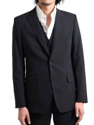 Peaked Lapel Tailored Jacket