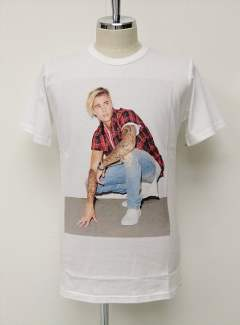 正規公認Justin Bieber T-Shirt RED  CHECK