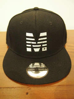 コラボsnap back cap (MADE IN WORLD × M) / black