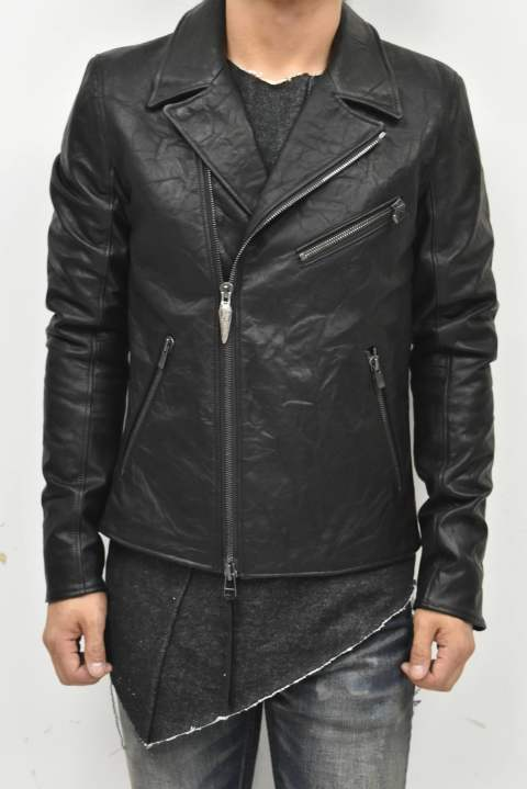 BIKER (Double riders classic cow leather jacket)