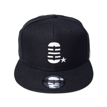 snap back cap (8☆/ブラック)