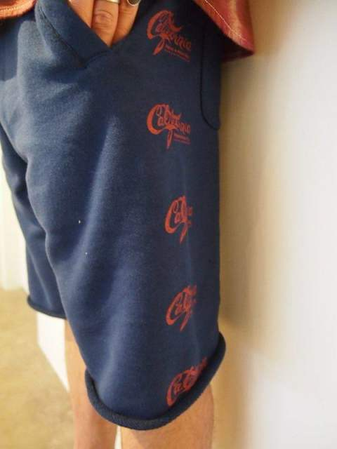 M / cut off buggy sweat shorts (California) (navy)