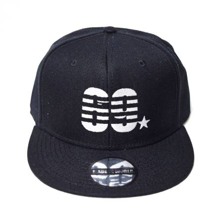 snap back cap (69☆/ブラック)