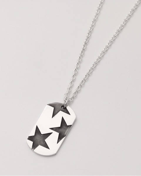 BIG THREE STAR PENDANT silver