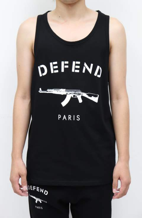 DEFEND PARIS タンクトップ/BLACK