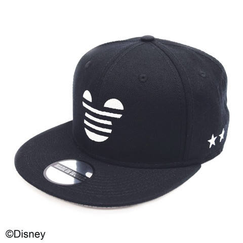 snap back cap Mickey☆☆black
