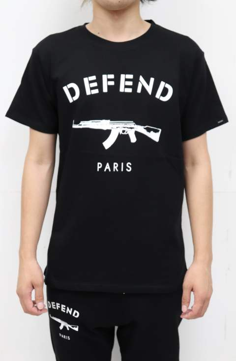 DEFEND PARIS Tシャツ/BLACK