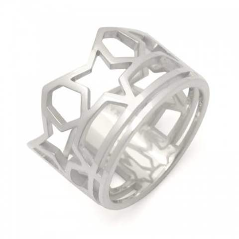 SKELETON FIVE STAR RING/silver