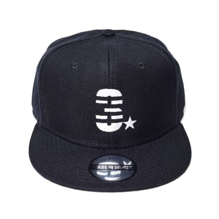 snap back cap (3☆/ブラック)