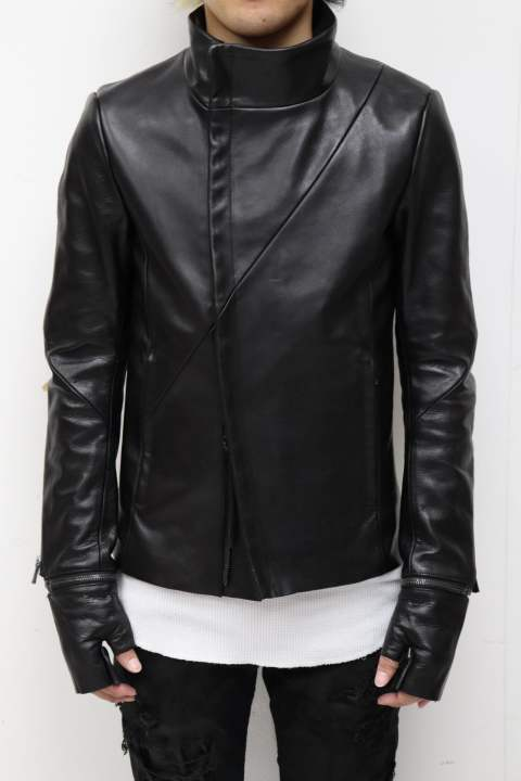 LJK1 glove zip cow leather jacket