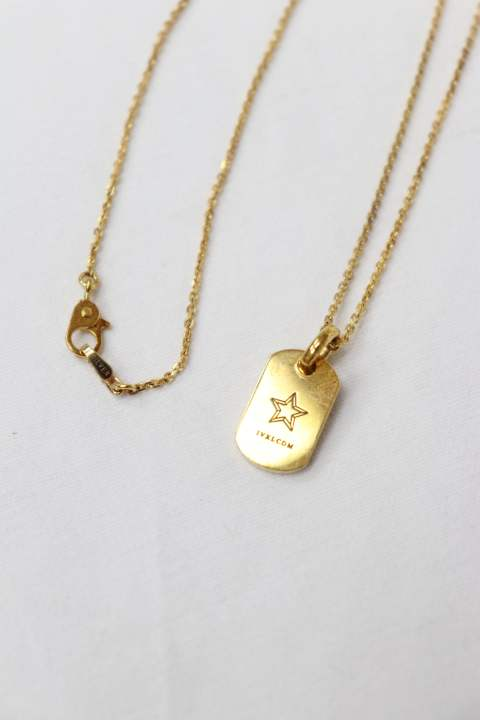 SMALL TAG PENDANT/GOLD/STAR