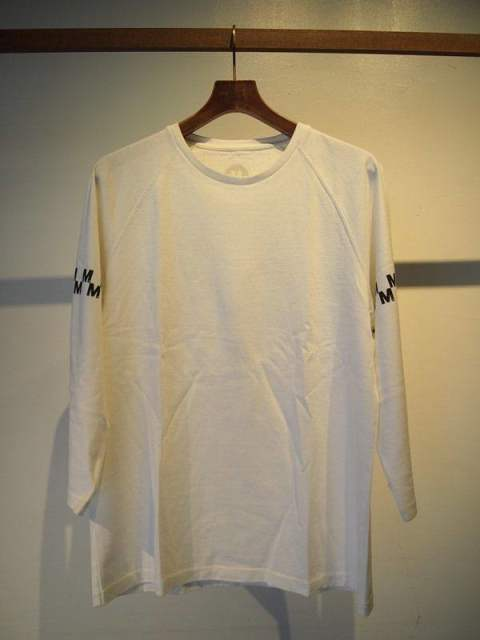 washed foot ball t-shirts(M checker)/white×black