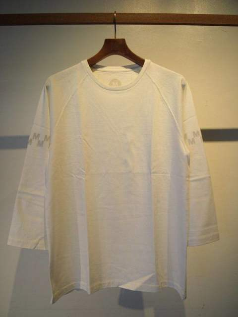 washed foot ball t-shirts(M checker)/white×gray