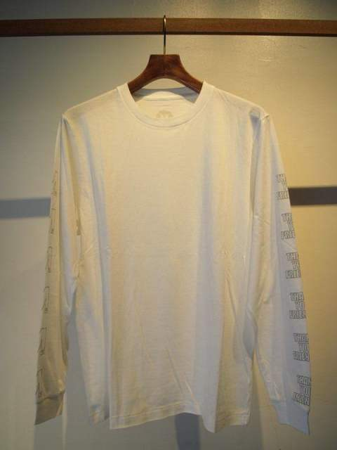 washed rib l/s t-shirts(frame M)/white