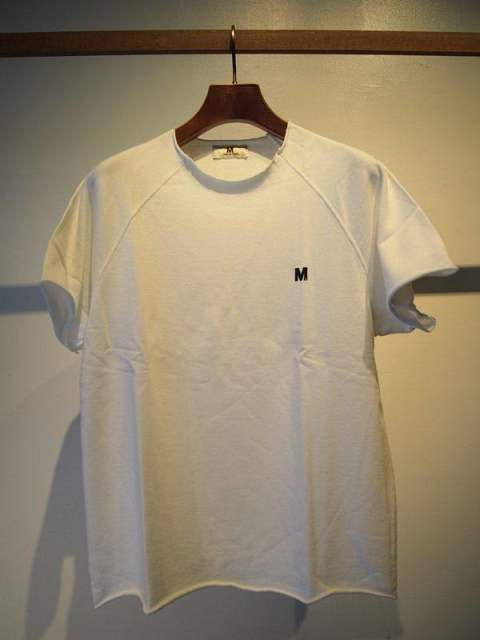 one point cut off sweat shirts/white