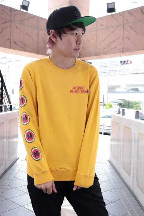washed pullover swet shirt(lucky M )/mustard yellow