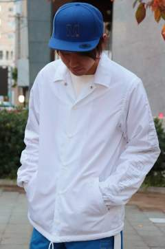 17AW-MSH002 /M nylon boa coaches jacket/white