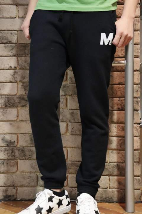 Mロゴwashed basic sweat pants (BLACK)