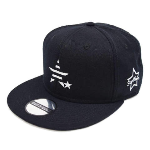 MIW-SL-001 / snap back cap (MADE IN WORLD &CO × StarLean) / black