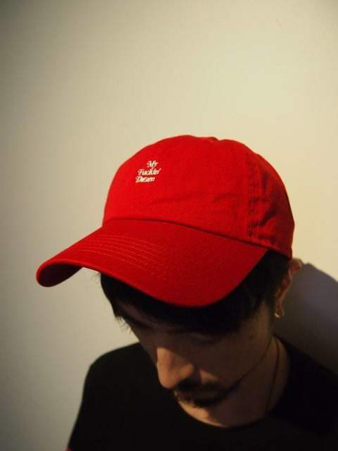 used wash one point 6panel cap (My Fuckin' Dream / 17AW) / red