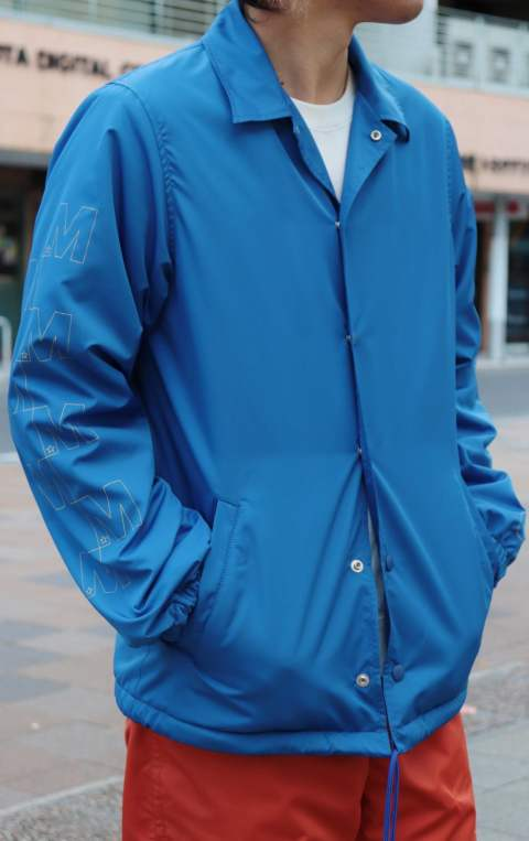 17AW-MSH002 /M nylon boa coaches jacket/blue