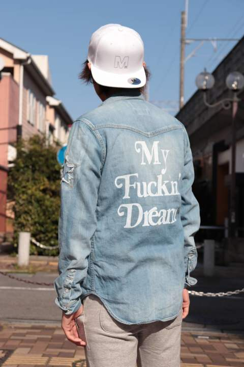 M / M×Marbles DENIM SHIRT (My Fuckin' Dream) (indigo)