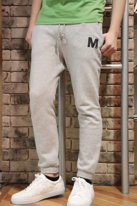 Mロゴwashed basic sweat pants (heather gray)