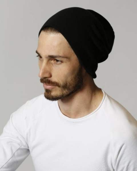 simple knit cap/black
