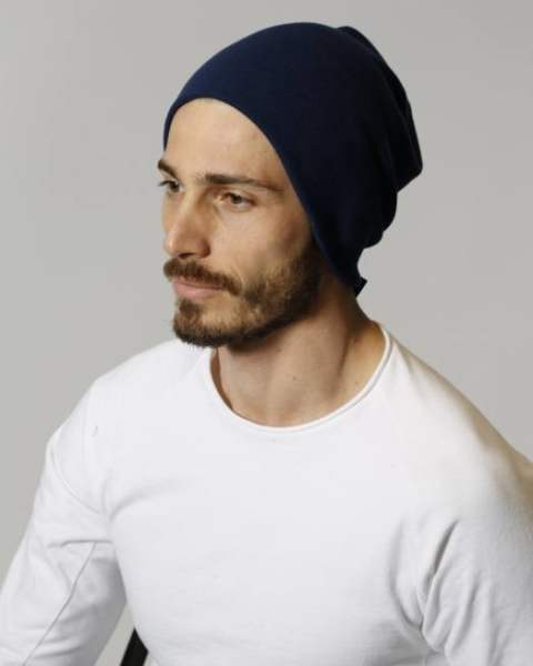 simple knit cap/navy