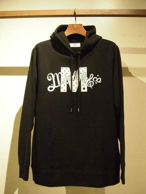 M x Marbles/washed pullover parka/black