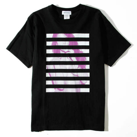【Good Paris】BORDER GRAPHIC GIRL/BLACK