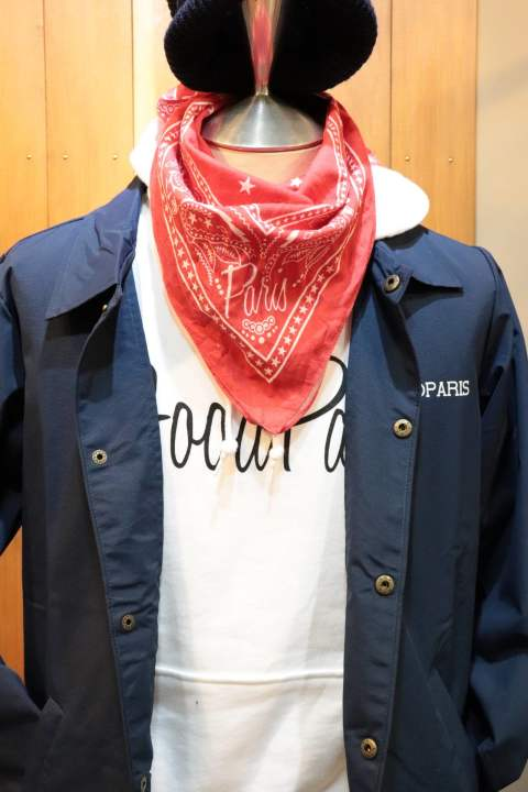 【Good Paris】 BANDANA/RED