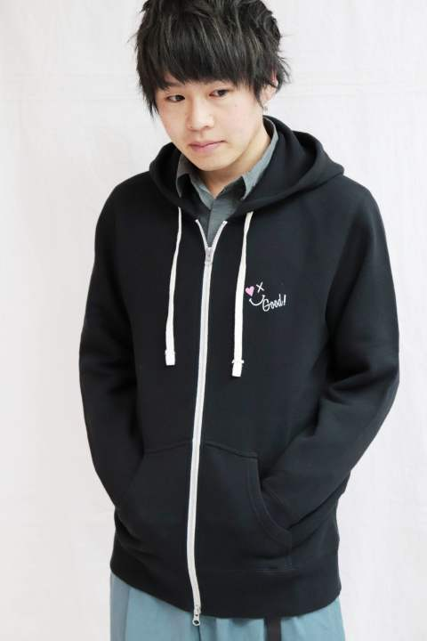 【Good Paris】SMILE GOOD ZIP UP PARKA /BLACK
