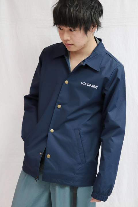 【Good Paris】BANDANA COACH JACKET /NAVY