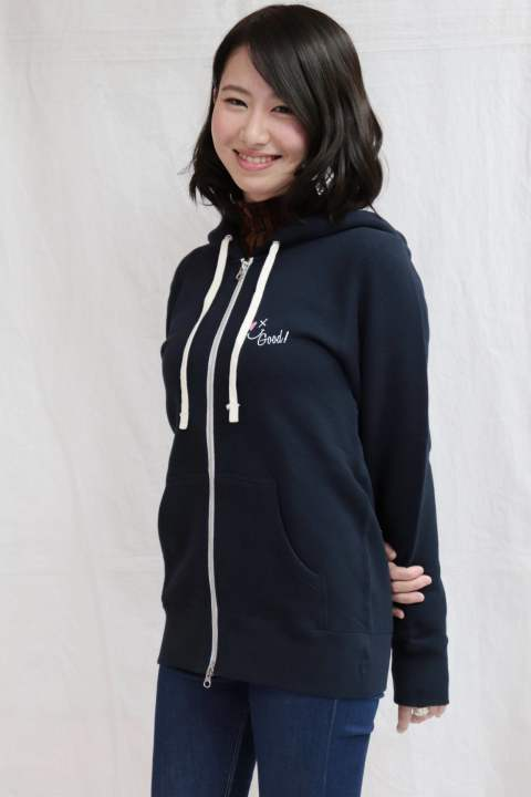 【Good Paris】SMILE GOOD ZIP UP PARKA /NAVY