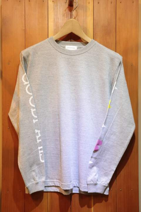 【Good Paris】 STAR&HEART LONG SLEEVE T-SHIRT /GRAY