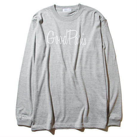 【Good Paris】GOOD PARIS LONG SLEEVE T-SHIRT /GRAY