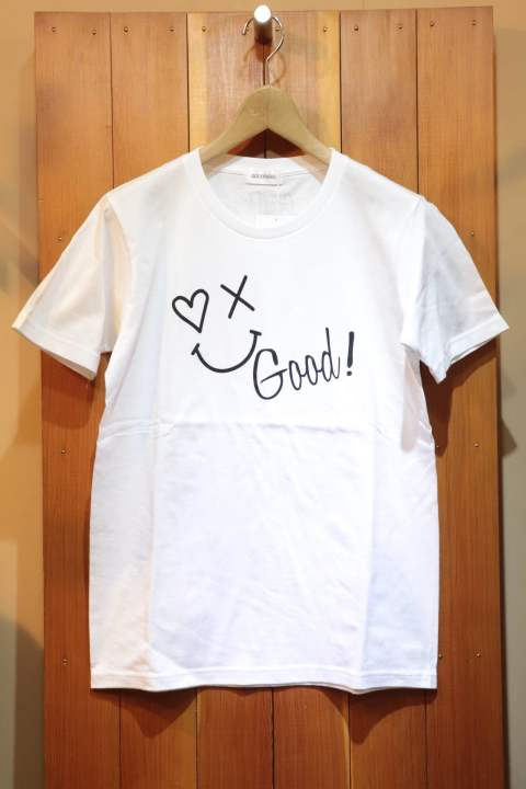 【Good Paris】SMILE GOOD T-SHIRT/WHITE