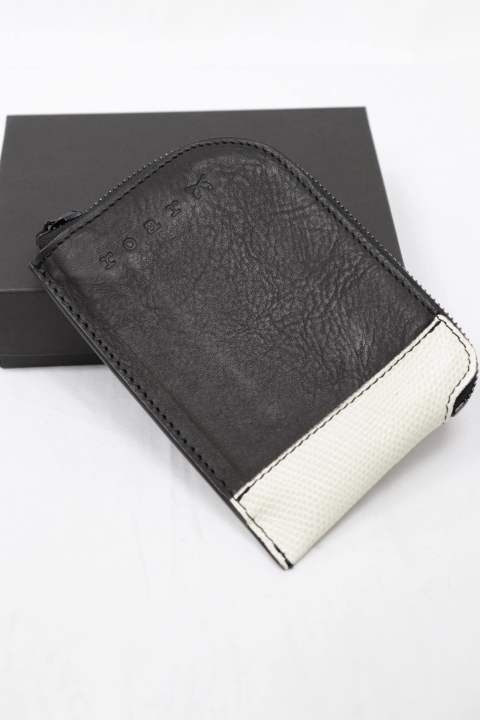 [roar] COW LEATHSER WALLET/BLACK×WHITE