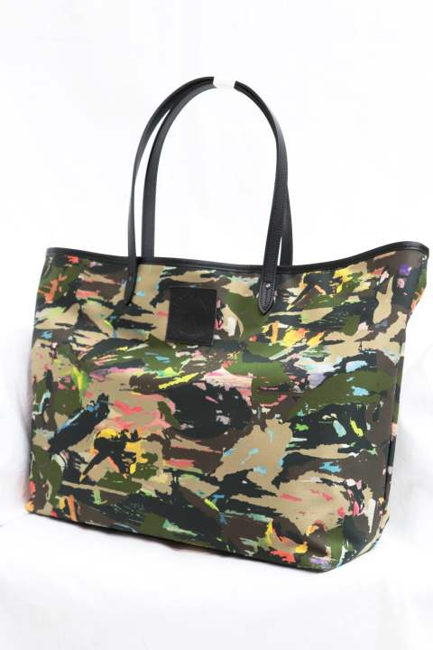[roar] CAMOUFLAGE INK-JET PRINT STRETCH TOTE BAG/GRAPHIC BY DISKAH