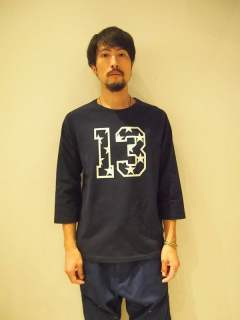 【M】)raglan sleeve t-shirts(13&star)/navy