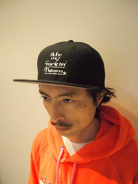 【1周年企画Mコラボ】 snap back cap (MADE IN WORLD×M) (black×white)
