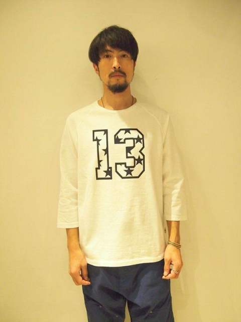 【M】)raglan sleeve t-shirts(13&star)/white