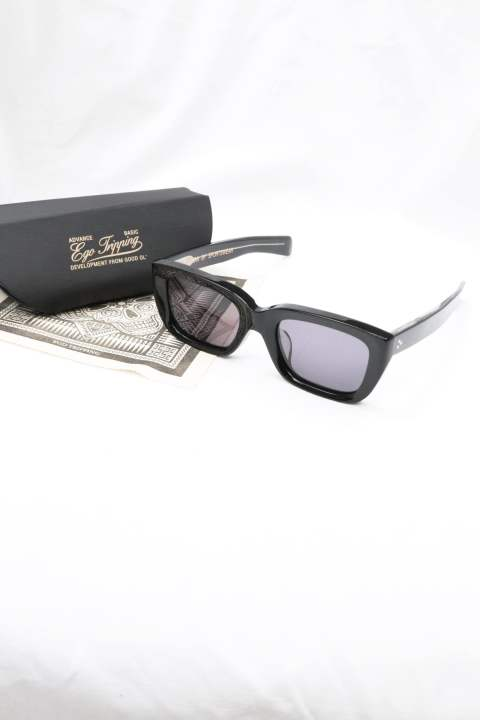 【EGO TRIPPING】  CUSHMAN×EGO TRIPPING GLASSES/BK×SMOKE