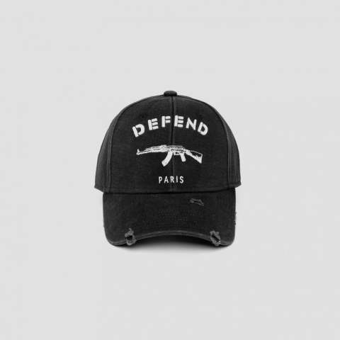 【DEFEND PARIS】 CAP USED/BLACK