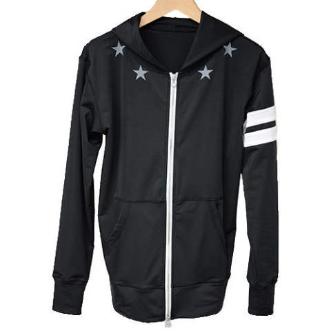RASH STAR ZIP PARKA BLACK RC7-C-006