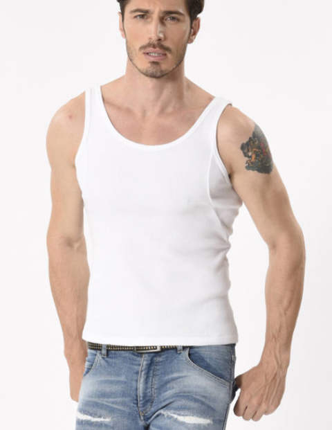 【wjk】irregular seam tank top/WHITE