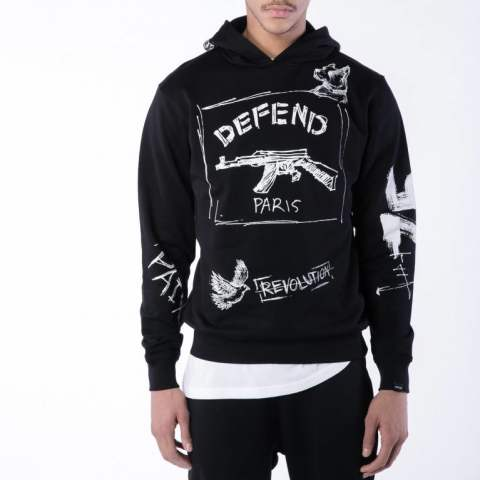 【DEFEND PARIS】VIENNE プルオーバーパーカー/BLACK