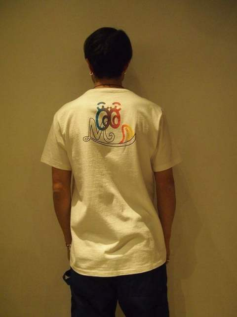 【M】crew neck t-shirts(eye)/white