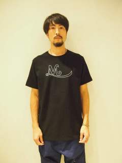 【M】crew neck t-shirts(eye)/BLACK